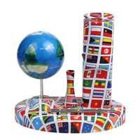 Electrónico centrípeta giro globo terrestre giratorio juguete educativo puede girar en la palma alambre mesa no se caiga