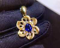Beaux bijoux AGL Cert vrai 18 K or blanc 100% naturel non chauffé saphir bleu Royal 0.87ct pierres précieuses pendentifs pour femmes collier