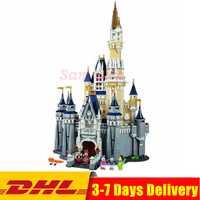 Compatible Legoingly 71040 Cenicienta princesa Castle City Set Model Building Block DIY juguetes cumpleaños regalos de navidad