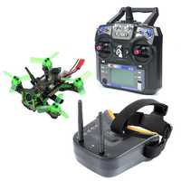 Mantis85 85mm 6CH 2,4g RC FPV Micro Racing Drone Quadcopter RTF 600TVL Cámara VTX y doble antena 5,8g 40ch Mini gafas de vídeo
