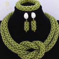 Conjunto de joyas preciosas de salvia para bodas africanas nigerianas, conjuntos de joyas de cristal para niñas, collares para fiestas, conjuntos de joyas nupciales
