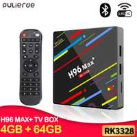 PULIERDE Android 8,1 caja de TV H96 MAX PLUS 4 GB 64 GB RK3328 H2.65 4 K 2,4 GHz/5 GHz WIFI Set-top box Media Player Smart TV Box 32 GB