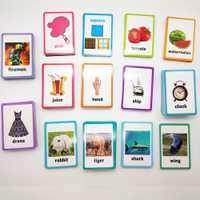 26 categorías 760 piezas aprender inglés de tarjeta de tarjetas, Juguetes Educativos, Juguetes Educativos para niños de los niños de Aprendizaje Temprano