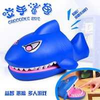 1818Pmo juguetes truco banal divertido juguete nuevo y extraño adulto creativo scary tiburón mordedura dedo niños diversión regalos 45 cm y 37 cm
