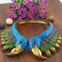 Bella esmalte de moda Flamingo Animal pájaro declaración collar de cristal austriaco collar de diamantes de imitación para las mujeres de regalo de la joyería