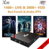 X96 Android tv box 7.1.2 para smart tv con neo iptv 1 año mejor francés árabe Bélgica europeo qhdtv m3u