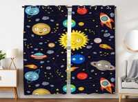 Cortinas, paneles de cortinas de dormitorio interesante exterior espacio sistema Solar sonriendo planeta Sol