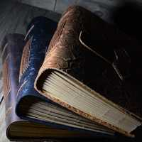 Carnet de notes carnet de notes en cuir fait main Vintage fantasaci carnet de croquis Journal de voyage papier d'écriture blanc carnet de notes cadeaux papeterie