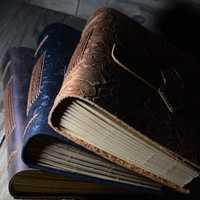 PHANTACI Vintage hecho a mano, diario de cuero, cuaderno de diario de viaje de papel de escribir en blanco nota libros regalos de papelería