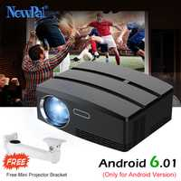 Newpal proyector GP80 a Mini proyector Android 6,01 4 K/2 K WIFI Bluetooth Full HD LED proyector apoyo HDMI Miracast Airplay TV