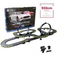 Cable eléctrico coche de Control remoto juguetes pista 1:43 coche de carreras modelo de interacción padre-niño divertido Rc coche juguete para regalo de Cumpleaños