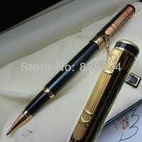 Envío libre Picasso francés 902A negro y oro bolígrafo serie de fantasía con la caja original