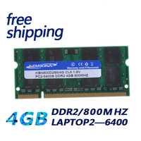 KEMBONA SODIMM portátil DDR2 4 GB 4G 800 MHz PC2-6400 RAM memoria portátil 200PIN módulo