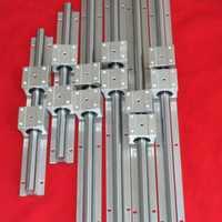 Apoyo de carril lineal SBR12 300mm 2 X SBR16 500mm 2 X SBR20 800mm 2 X total 6 rieles + 12 bloques para máquina CNC