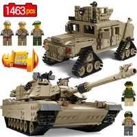 Creativo bloques Technic M1A2 colección tanque Compatible Legoingly militar M1A2 Abrams Tanque de batalla principal arma ladrillos DIY Juguetes