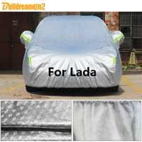Construcdremen2 pour Lada Niva 4X4 Kalina Vesta Samara 110 111 112 Largus bâche de voiture épaisse soleil pluie neige grêle protéger couverture imperméable