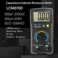 Multímetro Digital profesional LCR Puente digital Multimetro medidor de resistencia de capacitancia de inductancia medidor multímetro