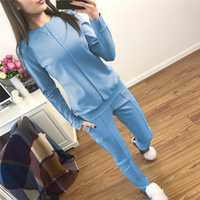 LIVA chica nueva moda Rusia estilo mujeres otoño tracksuit mujeres hoodies 2 piezas t-shirts + pantalones largos) trajes de ocio