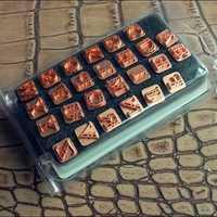 DIY Johnleather Herramientas Artesanales Altos Letras Mayúsculas Del Alfabeto 26 Herramientas Stamp Set 9mm * 9mm Con Niquelado Poste de Metal
