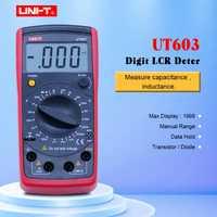 UNI-T UT603 moderno resistencia inductancia capacitancia metros probadores medidor de LCR condensadores ohmímetro w/prueba hFE