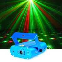 ICOCO nuevo Mini DJ etapa de iluminación láser discoteca de luz Fiesta Club Galaxy proyector