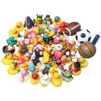 50 pcs classique en caoutchouc jouet bébé bain jouet bébé bain flottant pincement appelé petit canard jaune jouet livraison aléatoire