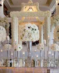 SPR nueva alta calidad 4 unids/lote 40 cm dia. MESA DE BODA artificial centro de mesa flor bola boda camino flores decoración