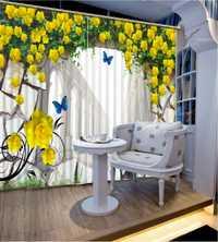Personalizado 3D cortinas en el salón creativo flor pared 3D estereoscópico cortinas para ventana de la cocina