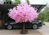 150 cm de alto por 180 cm de ancho Rosa artifical peach tree/cherry blossom tree-decoración de la boda camino lleva accesorios para eventos