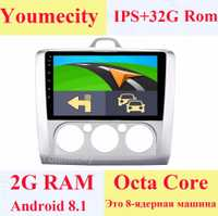 ¡Youmecity/nuevo! 2G RAM + 9 pulgadas Android 8,1 coche dvd GPS Player para Ford focus 2006-2011 1024*600 + wifi + 4G + BT + Radio + RDS +