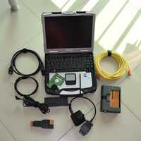 2018 para bmw icom a2 b c con ordenador portátil cf30 software 500 GB hdd ista modo experto herramienta de diagnóstico para bmw cable obd listo para usar