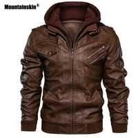 Alpinskin nouveaux hommes vestes en cuir automne décontracté moto veste en cuir synthétique polyuréthane Biker cuir manteaux marque vêtements taille ue SA722