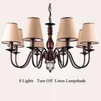 Chandelierstyle lámpara Vintage Loft araña moderna iluminación colgante de cristal