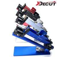 Arquería Fletching Jig palo ajustable pluma herramienta de Unión recurvo compuesto flecha ajustable Universal equipo de tiro con arco