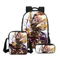 3 unids/set VEEVANV nuevo Anime personajes impreso mochilas niños Bookbag moda Mochila niños bolso de hombro ocasional de las muchachas