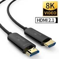 Cables de fibra óptica HDMI 2,1 48Gbps de Ultra alta velocidad 8K 4K 4320P UHD HDR- amplificador MOSHOU de interfaz Multimedia de definición