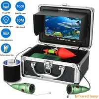 GAMWATER Sous-Marine Pêche Caméra Vidéo Kit 1000tvl 6 w IR LED Blanc LED avec 7 Pouces Moniteur Couleur 10 m 15 m 20 m 30 m