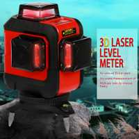 KKMOON DIY 12 líneas 360 verde rojo 3D nivel láser autonivelante Horizontal y Vertical Cruz con láser gafas