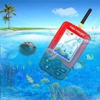 Invierno LCD portátil buscador de peces inalámbrico pesca sirena de alarma bajo el agua transductor Fishfinder Cámara