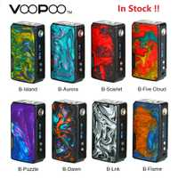 En Stock 177W VOOPOO arrastrar 2 Caja Mod potencia por batería 18650 cigarrillo electrónico Mod Vape Voopoo Mod Vs arrastre/Mini/Shogun Univ