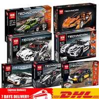 DHL educativos técnica 20033, 20052, 20053, 20087, 23002, 23006, 23018 Buillding bloques ladrillos juguetes modelo clon Legoinglys 42065 de 42056 a 5530