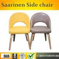 Envío libre U-BEST estilo sillas de comedor de madera moderna, Saarinen Silla de comedor, Eero Saarinen silla lateral en el comedor