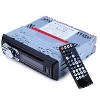 Radio FM del coche 12 V Auto Audio estéreo SD MP3 Player AUX USB DVD VCD reproductor de CD de música con control remoto radio en el tablero 1 DIN
