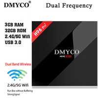 DMYCO nuevo H96 Pro + 3 GB/32 GB S912 Android 7,1 TV BOX HD Smart tv + 1 año Europa server 1000 + canales de iptv Italia francés Alemania