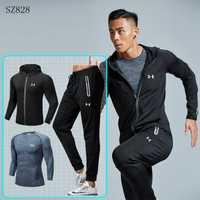 Ropa de entrenamiento para hombre, ropa deportiva para hombre, juegos para correr y gimnasio, juego deportivo para exteriores de secado rápido 3 piezas M-4XL