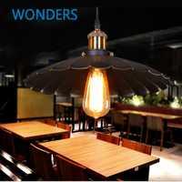Edison bombilla vintage Iluminación industrial lámpara de cobre sostenedor colgante luz americana lámpara de luces 110-260 V lámparas