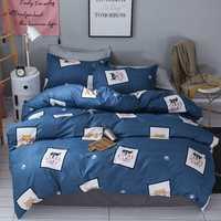 1,5/1,8 m ropa de cama cómoda textiles para el hogar de los niños de dibujos animados ropa de tres/conjunto de cuatro piezas de Estudiante dormitorio cubre simple
