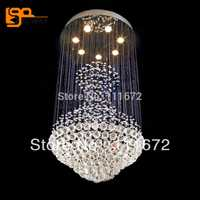 Diseño de lujo de cristal moderno LUZ DE AC110V 220 V lustres comedor lámpara de araña