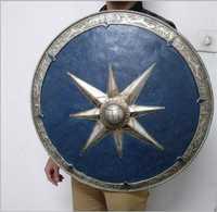 [Divertido] de Metal y resina hecho escala 1:1 62 cm el legendario Escudo de Narnia armas modelo para adultos y niños cosplay de juguete de regalo de colección