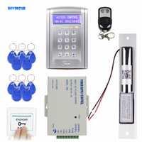 Diysecur control remoto RFID Control de Acceso puerta de bloqueo del sistema Kit + Electric pestillo de la cerradura sistema de seguridad con Timbres de puerta botón